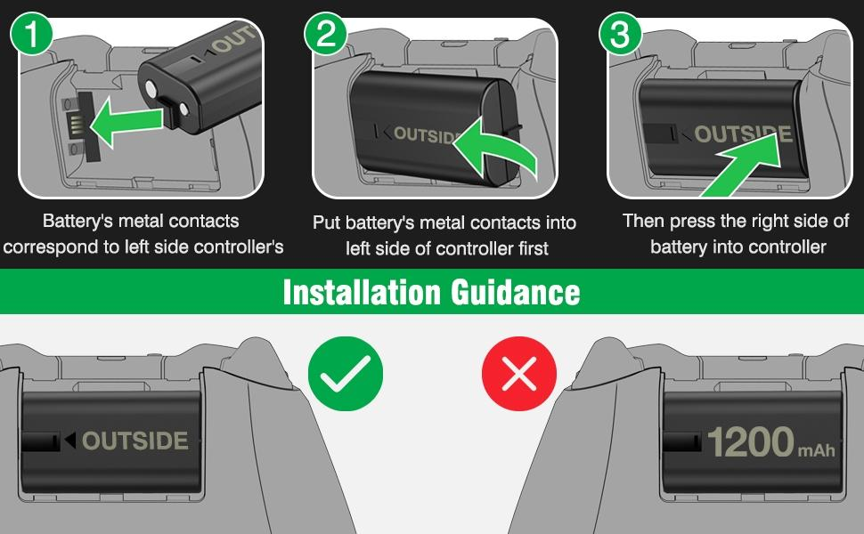 Installation Guidance of xbox rechargeable battery pack