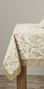 luxury beige tablecloths