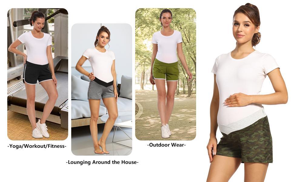 shorts plus size bermuda maternity shorts plus size side stretch maternity shorts under belly