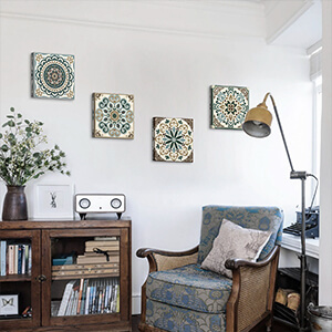 Mandala pictures wall