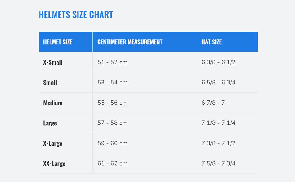 One K size chart