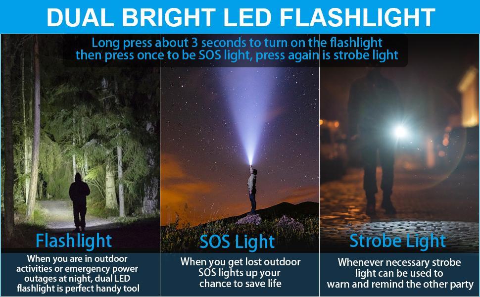 yoesoid yelomin soloforce 4patriots solar power bank led flashlight sos emergency outdoor camping