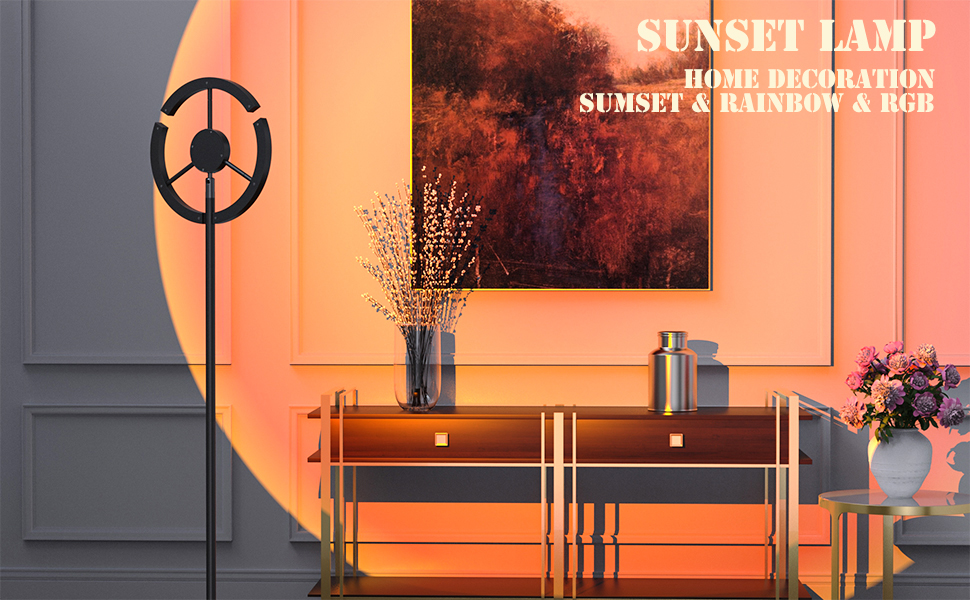 sunset lamp projector for decoration