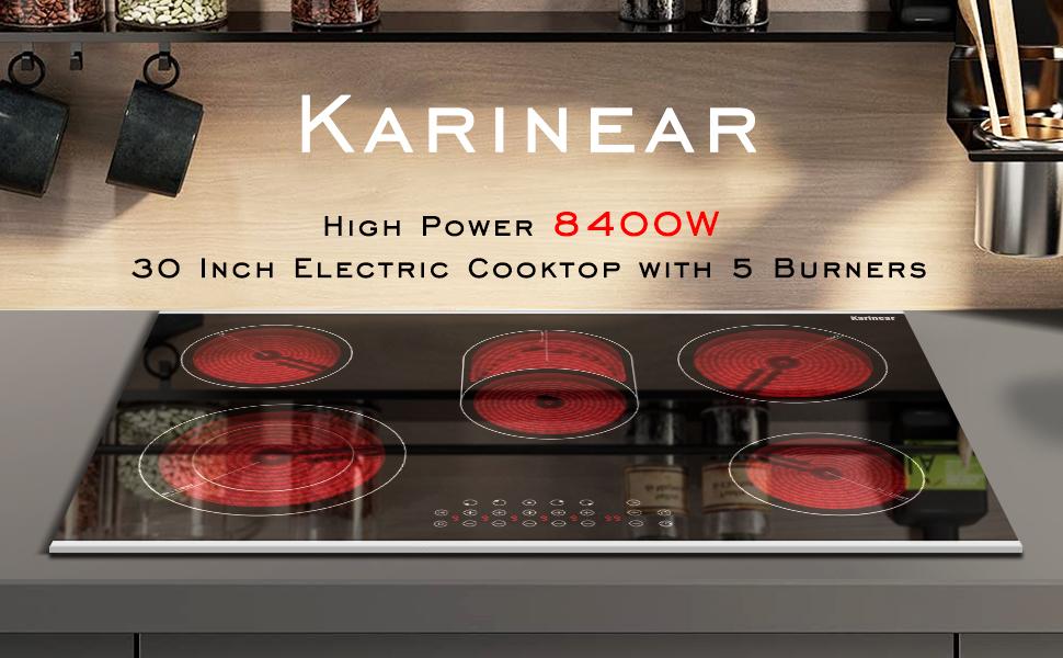 5 burner electric cooktop