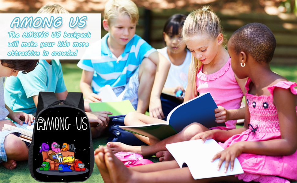 The AMONG US backpack willl make your kids more attractive in crowded.