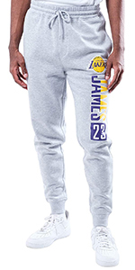 Ultra Game NBA Men's Active Fleece Joggers Sweatpants - Available in Multiple Players