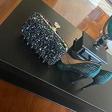 Abendtasche Damen Diamant Clutch Bag Kette Shiny Strass Handtasche