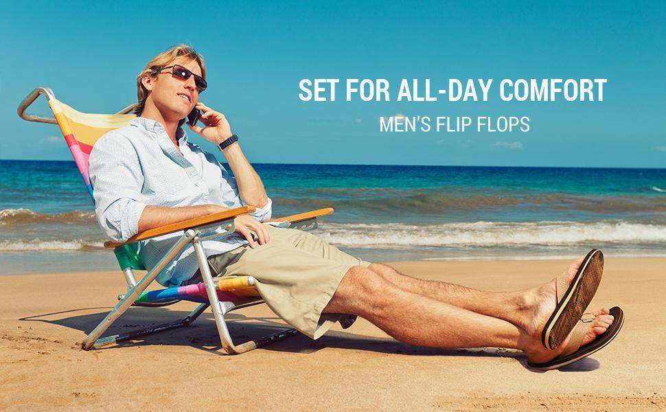 NORTIV 8 Men's Flip Flops Thong Sandals