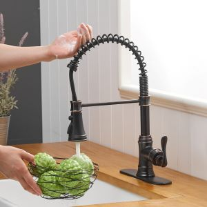 Single-Handle Touch Kitchen Sink Faucet with Pull Down Sprayer