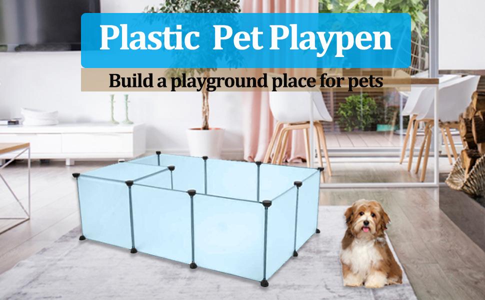 plastic pet playpen
