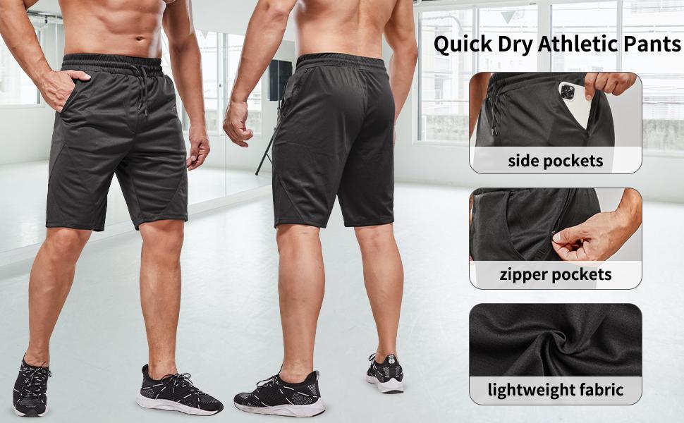 workout shorts men mens running shorts