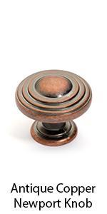 Antique Copper Newport Cabinet Knob