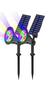 7led solar spotlights