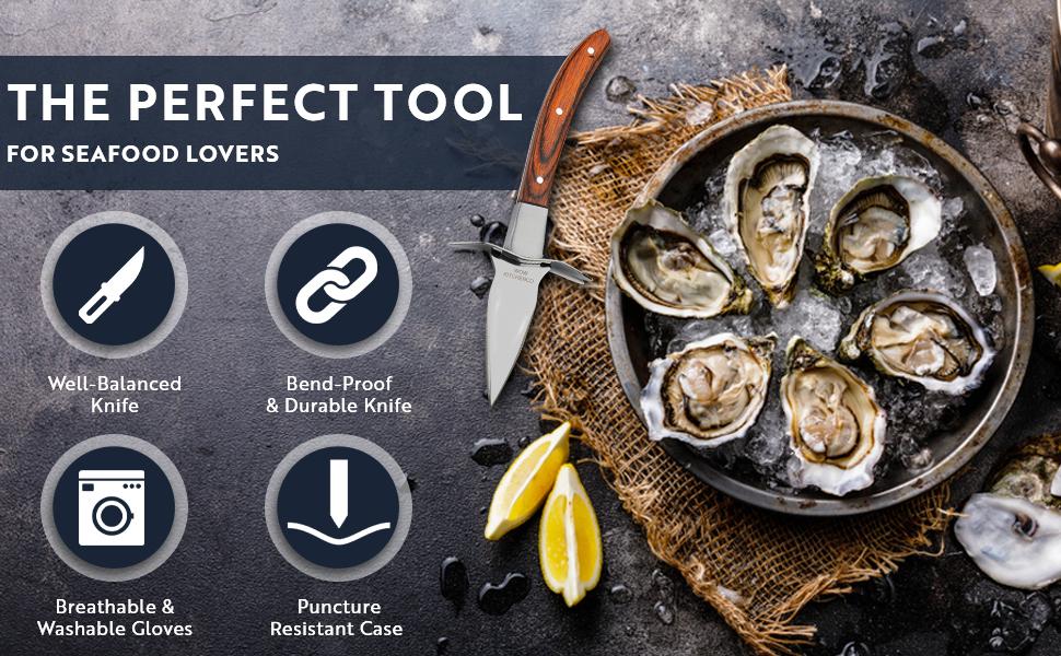 oyster shucking knife oyster knife oyster shucking kit oyster shucker oyster knife and glove set