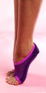 Ballet practice sock, low cut ballet sock, grip sock for dance, toeless socks dancing, dance socks