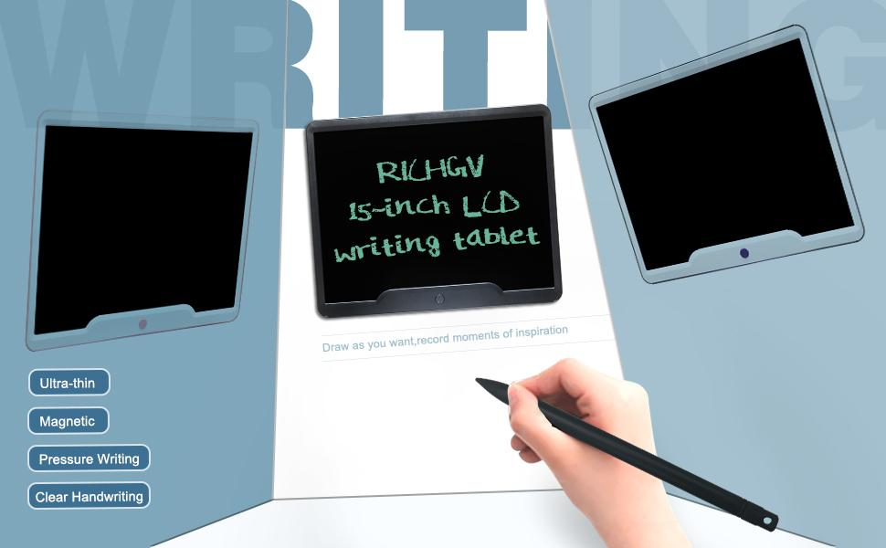 Richgv Tableta de Escritura LCD 15 Pulgadas