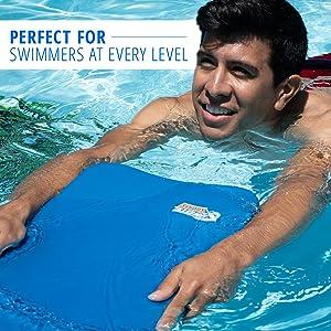 swimming product kickboard boogie board sunlite sports blue water kid junior adult play fun