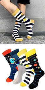 Funny Space Socks Men