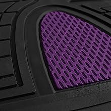 purple detail floor mat