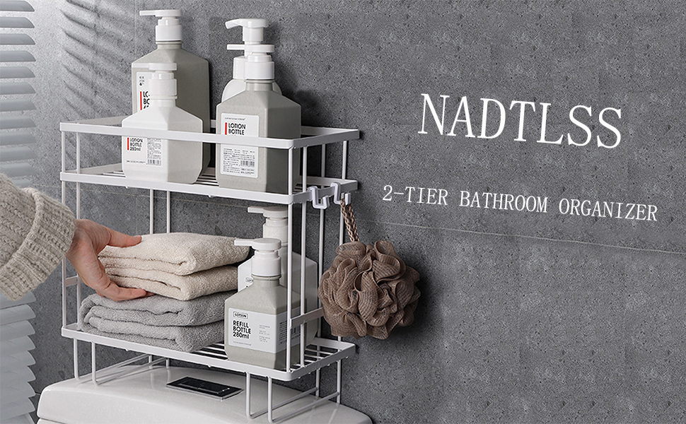 The practical and simple bathroom organizer shelves, help you create an extra space