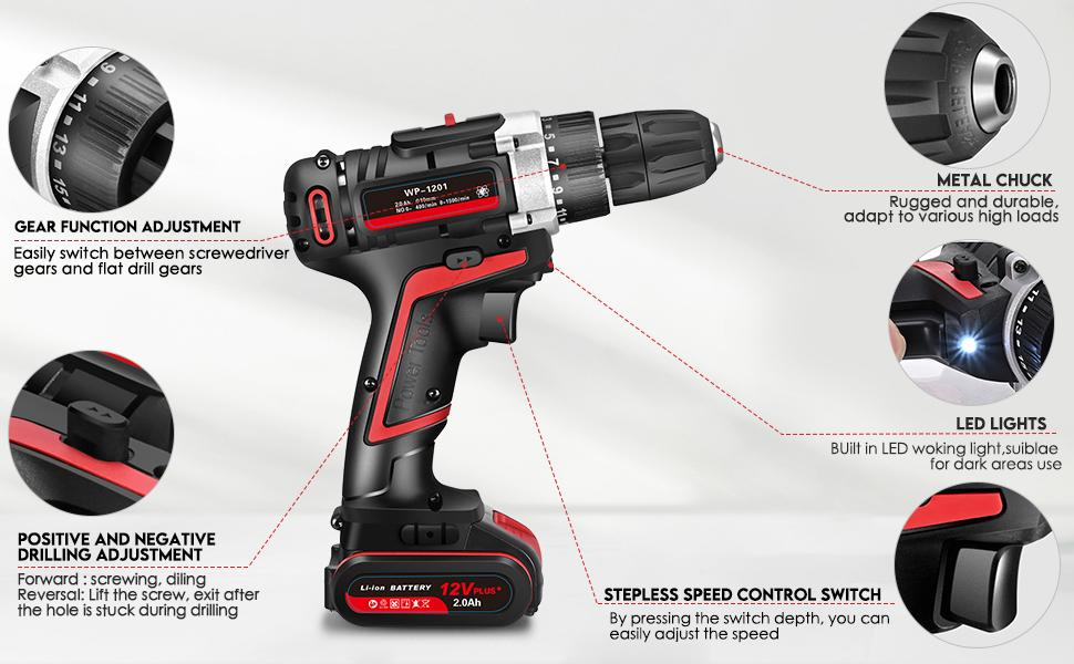 Structural analysis of 12V Li-ion Cordless Drill