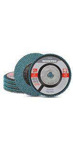 Zirconia Flap Disc, 40 Grit, 5 Pack