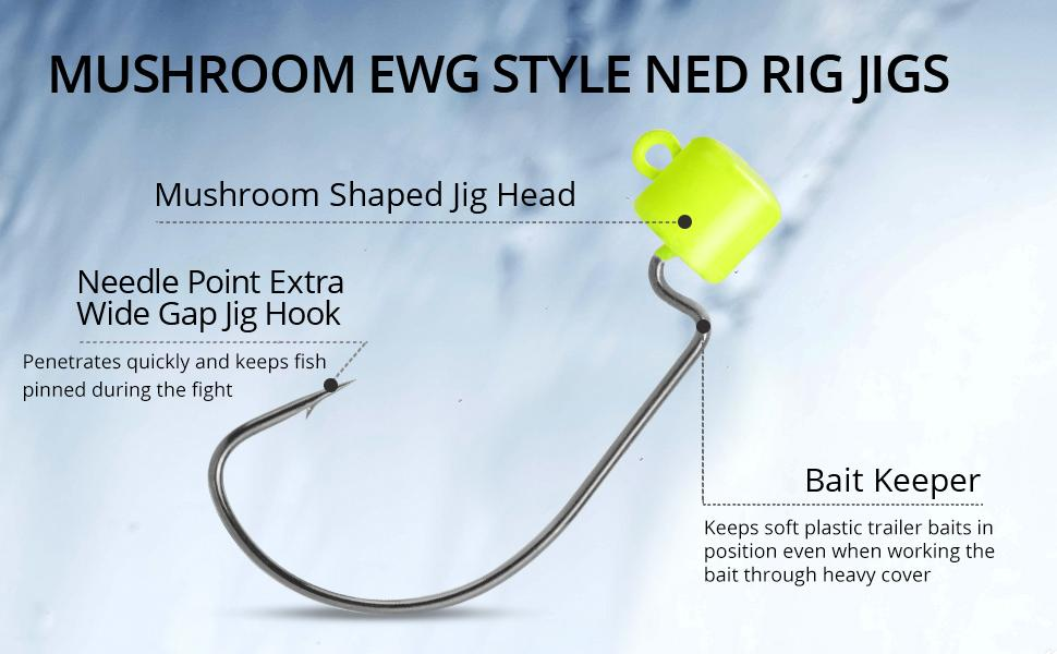 Mushroom EWG Style Ned Rig Jigs