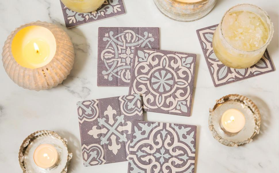 ELIZA COLE drink coasters with holder