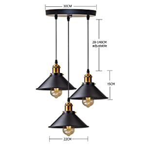 3 Lampes Lustre
