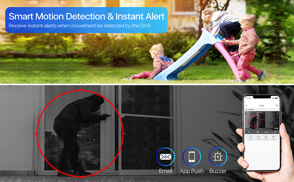 Smart motion detection and instant alert