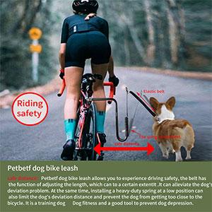 Bike Dog Leash, Attachment Hands Free Pet Exerciser-Dog Running Fitness Anti-Depression-Black
