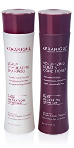 deep hydration anti thinning shampoo for hair growth for dry hair with keratin and biotin