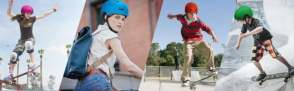 adult bike helmet roller skating rollerblading skateboard multi sport helmet kid youth helmet