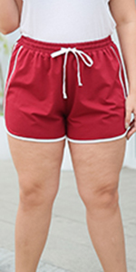 Nemidor Womens Plus Size Stretchy Casual Sport Yoga Pants Summer Athletic Dolphin Shorts