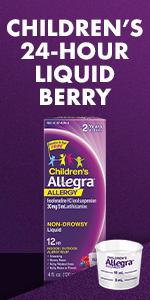 OTC children and toddler allergy medicine liquid.