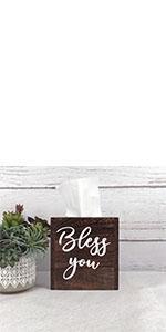 Brown tissue box cover