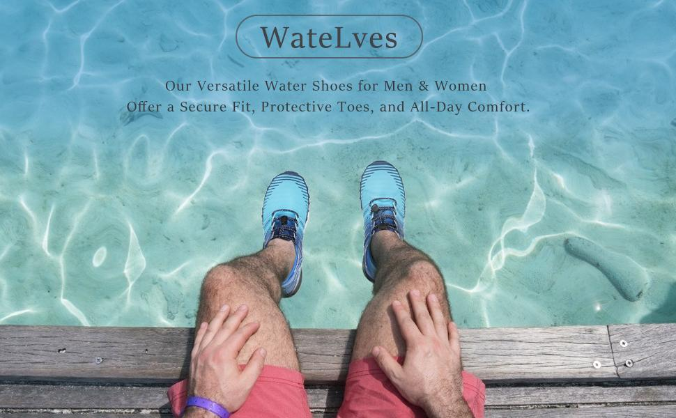 Our versatile water shoes for men women offer a secure fit, protective toes, and all-day comfort.
