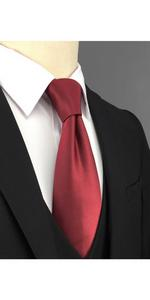 Ties for Men Solid Red