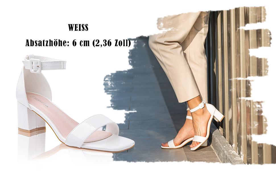 sandaletten mit blockabsatz breite füße riemchensandalen dunkelbraun patent pu leder