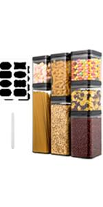 7 Pieces Cereal Containers Storage Set