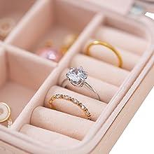 travel jewelry box rings