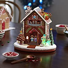 Gingerbread House Musical Tabletop Decoration with Light Hallmark Magic