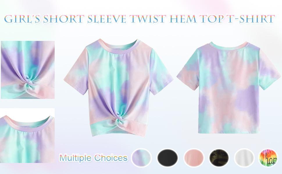 Short Sleeve Twist hem Tee