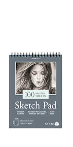 100 Sheet Smooth Sketch Pad
