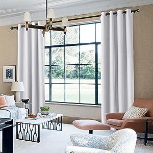 flame retardant curtains white