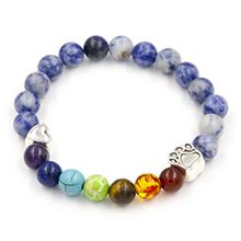 7 Chakra Pet Memorial Rainbow Bridge Bracelet