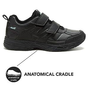 velcro black men shoes nonslip