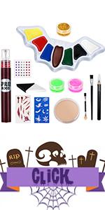 halloween make up kit for women men kids