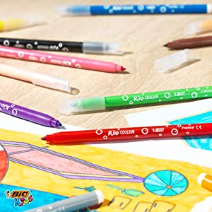 BIC Kids colouring markers and pens are perfect for kids colouring activities