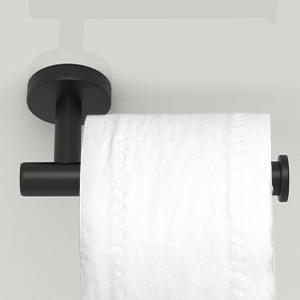matte black toilet paper holder wall mounted stainless steel bathroom hardware set